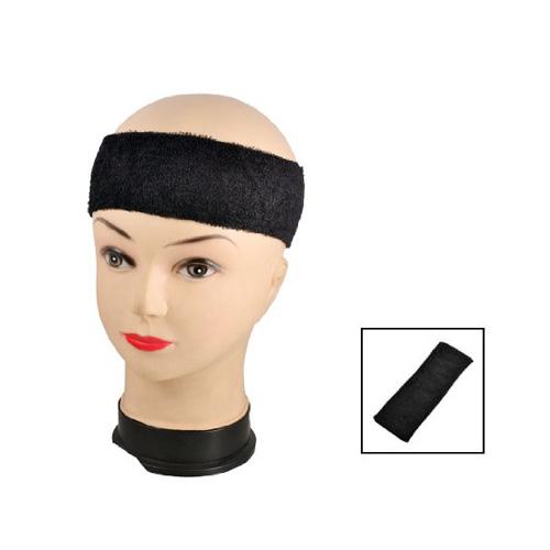 Adult Terrycloth Elastic Tennis Runner Head Band Sweatband Headband Black Wonderful Gift(China (Mainland))