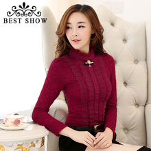 New 2015 Korean Style Woman Office Body Shirts With Long Sleeve Ruffle Turtleneck Elegant White Lace Blouse Roupas Femininas(China (Mainland))