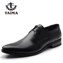 2016 Fashion 100% Genuine Leather Men Dress Shoes Luxury Men's Business Casual Shoes Classic Gentleman Shoes Brand TAIMA 38-45(China (Mainland))