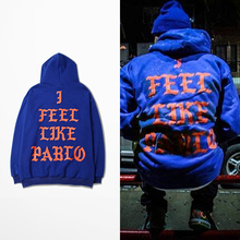 2016 Kanye West Hoodies I FEEL LIKE PABLO Hooded Sweatshirts Men Hip Hop Lover Streetwear Red S-3XL HXBF9997CJ(China (Mainland))