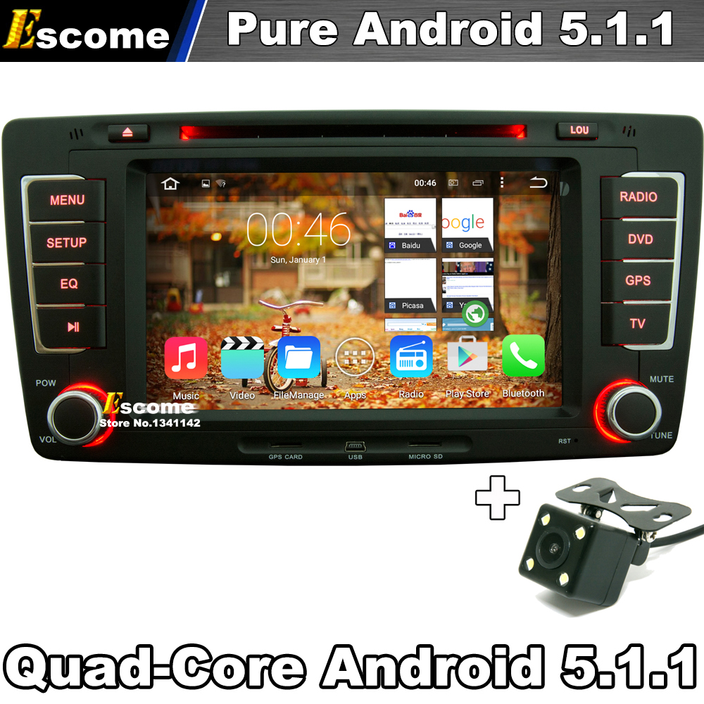 "7"" 2 din Pure Android 5.1 Car DVD Player For Skoda Octavia 2012 2013 Yeti With Rear View Camera Radio GPS Navigation(China (Mainland))"