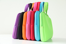2016 New Pure color 10.0 Netbook Laptop Computer Sleeve Inner Zipper Bag Cases Cover Pouch Protector Bags Bolsa +Handle