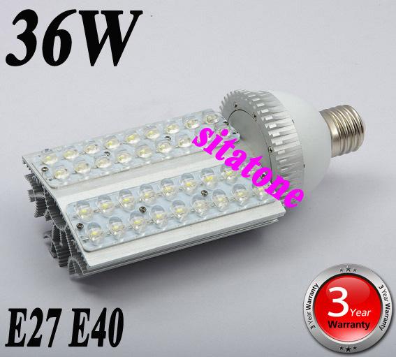 DHL Fedex Free shipping sale AC85-265V E27 E40 36W LED Street light 3 years warranty 36*1w led street light lamp(China (Mainland))