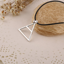 2015 Hot New Triangle Geometric Shape Silver Band Logo Thirty 30 Seconds to Mars Necklace Pendants