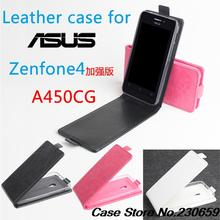 For Asus Zenfone 4 A450CG(4.5 inch) PU Leather Flip Cover Case New Smart phone Covers Leather Phone Case For A450CG Phone Bag