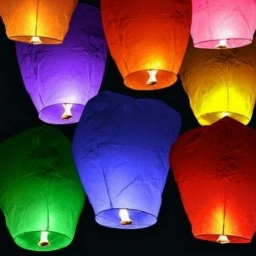 Free Shipping 20 Pack Chinese Sky Lanterns Wish Party Wedding Birthday-Multi Colors(China (Mainland))