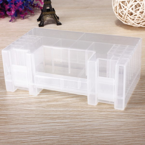 Hot Best Promotion Translucent Hard Plastic Case Holder Storage Box For AA AAA C Battery New Wholesale Price(China (Mainland))