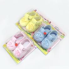 2015 Cotton Lovely Baby Shoes Toddler Unisex Soft Sole Skid proof Kids First Walkers prewalker 0