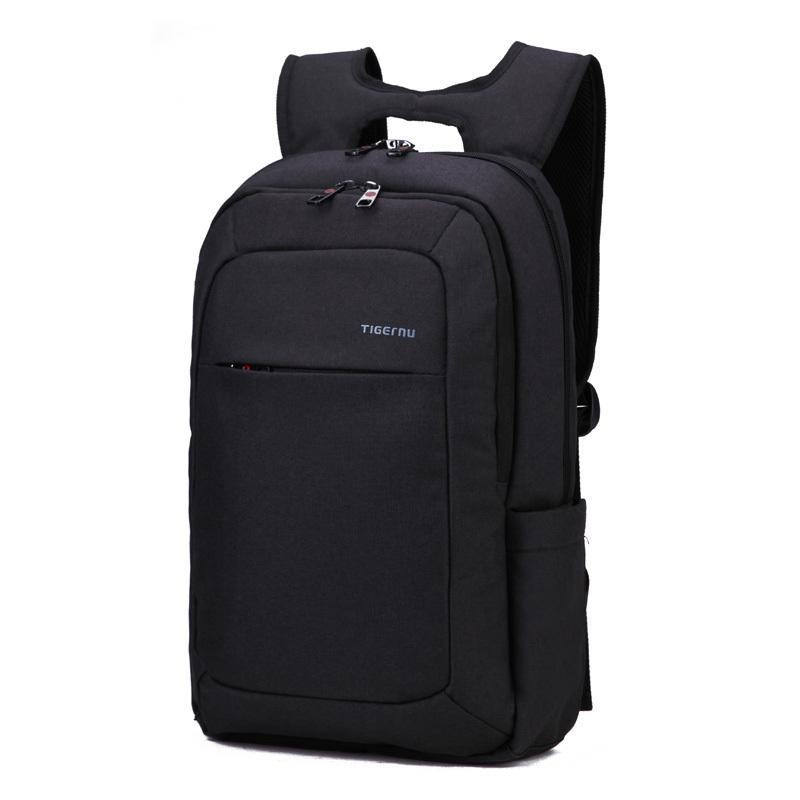 "Laptop Backpack 14 15"" Laptop Bags for Women Men Bag to Computer Mochila Feminina Light Weighted Black Slim Women Backpack(China (Mainland))"