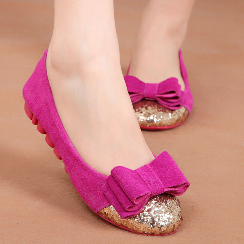 New Brand 2016 Women Nubuck Leather Flats Shoes Mother ...