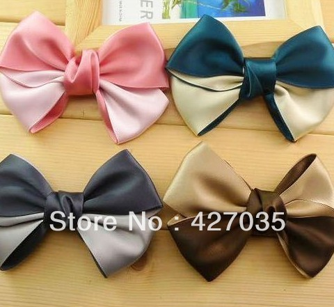 Hl33006 accessories individuality two-color bow hair accessory hairpin side-knotted clip