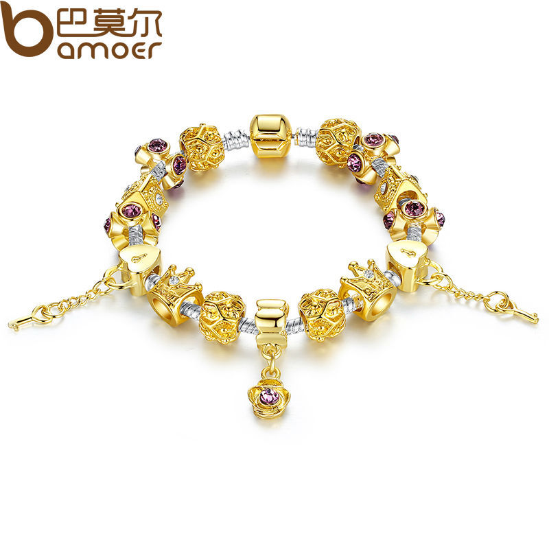 aliexpress com buy 14k gold plated strand bracelet with