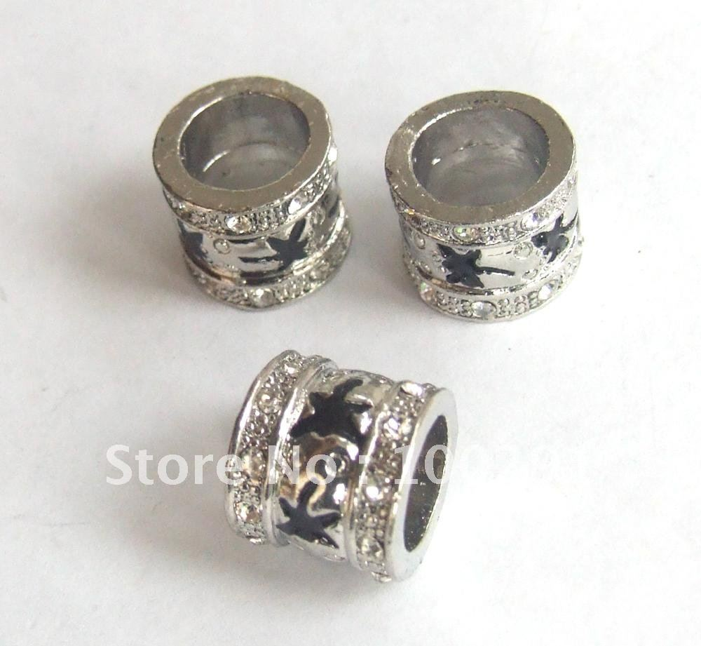wholesale stock 12pcs new 12*10mm space bead fit with bracelet(China (Mainland))