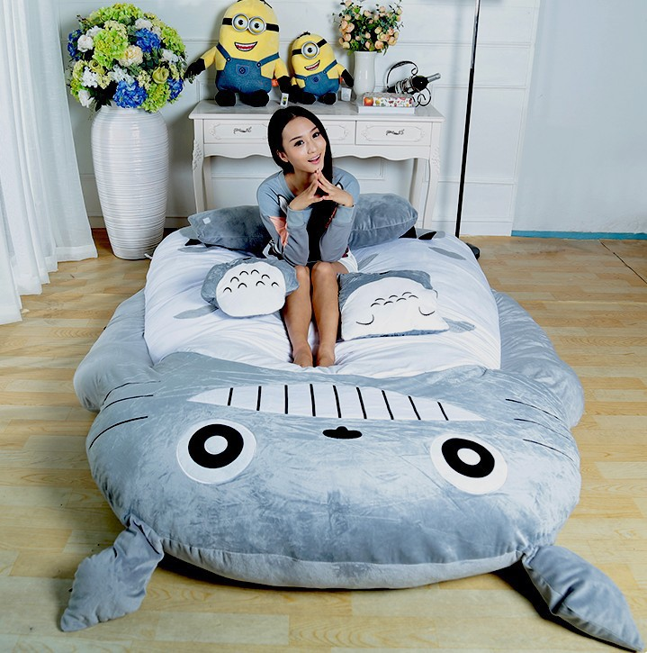 Totoro Design Big sofa Totoro Bed Totoro Double Bed Totoro Sleeping Bag HOT SALE whole sale, large gift(China (Mainland))