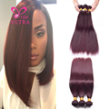 Ms Lula Hair 99J Red Wine Burgundy Brazilian Virgin Hair 4pcs 100 Human Hair Straight Burgundy