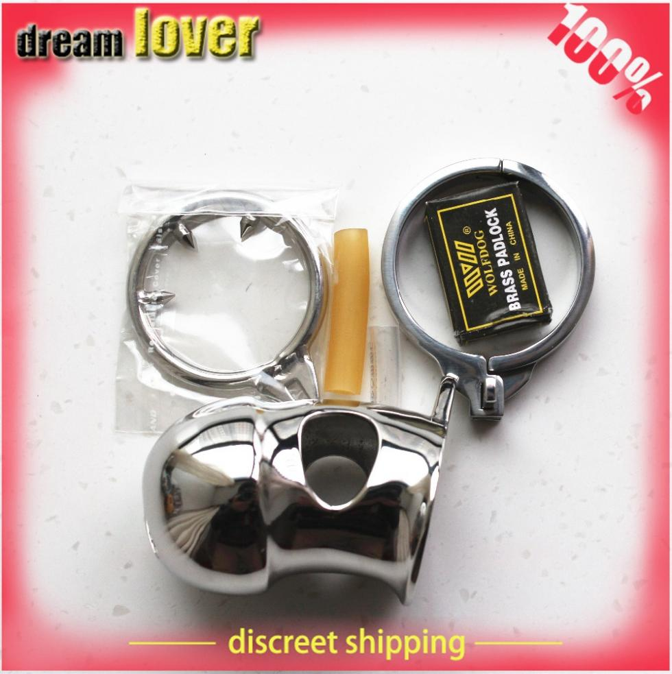 male chastity device,steel chastity ,love toys stainless steel male chastity lock belt Small cage free shipping<br><br>Aliexpress