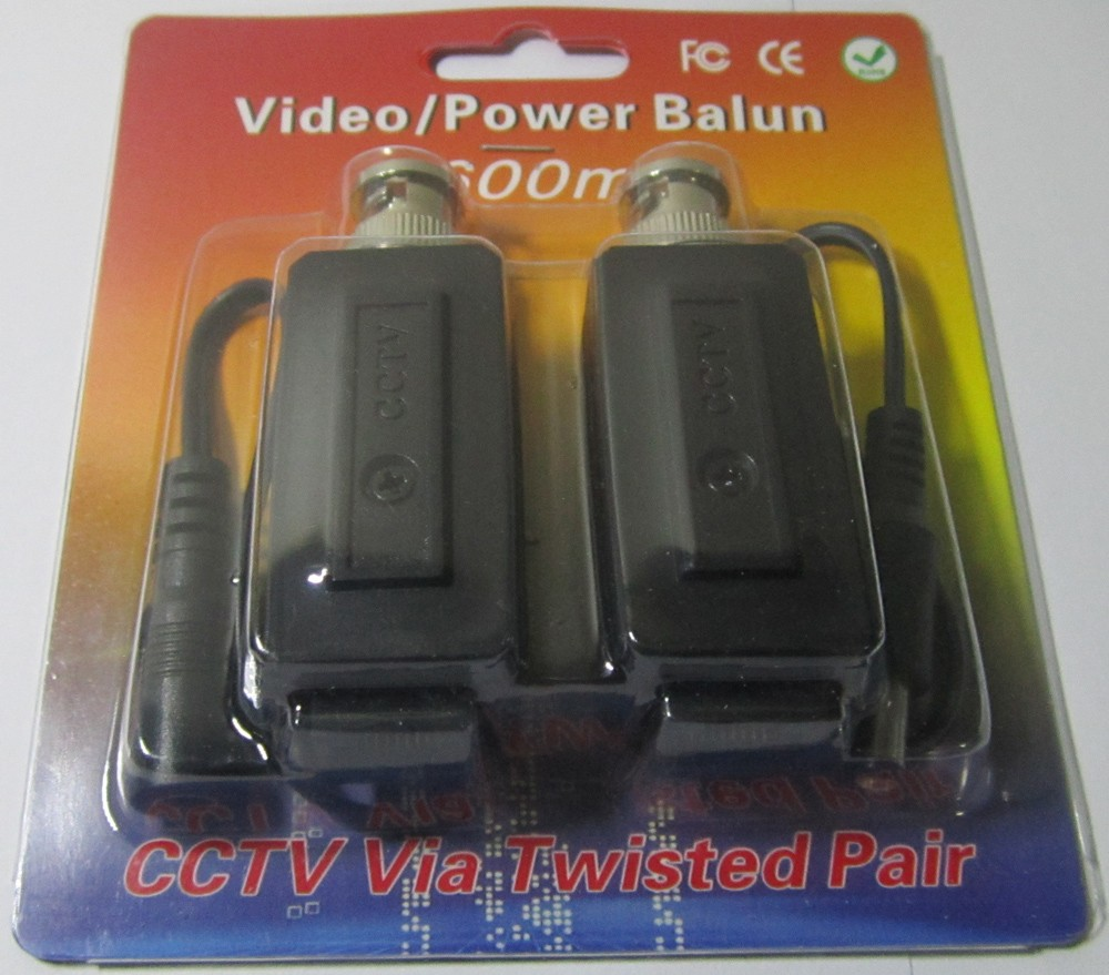 Multifunction Power Combo Video Balun Twisted Pair Transmitter CCTV UTP CAT5 RJ45 Balun for camera