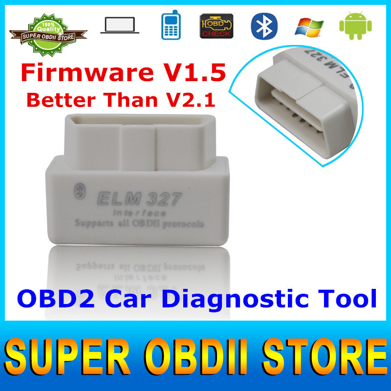 2015 Top Selling & Best Quality ELM327 Bluetooth OBD2 Scanner ELM 327 V1.5 OBD II Diagnostic Tool Works For Multi Cars(China (Mainland))