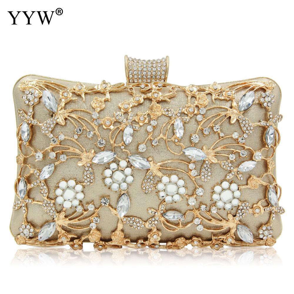 Women Luxury Rhinestones Crystal Evening Clutch Bag Party Prom Wedding Purse E#.