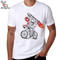 ZiLingLan Brand Astronaut Design Casual White Men t shirt Funny Camiseta Cute Men Short Sleeve Shirts