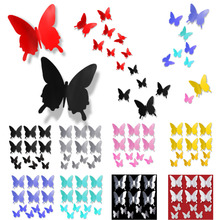 2016 9X 16 big+ 6 small PVC 3D Butterfly Tatoos DIY Wall Sticker Home Decoration Decals Decorations A2S1 - Lisa's Houses store
