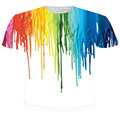 3d printed colorful melted crayon graphic tee shirt fashion hot men women t shirts summer style