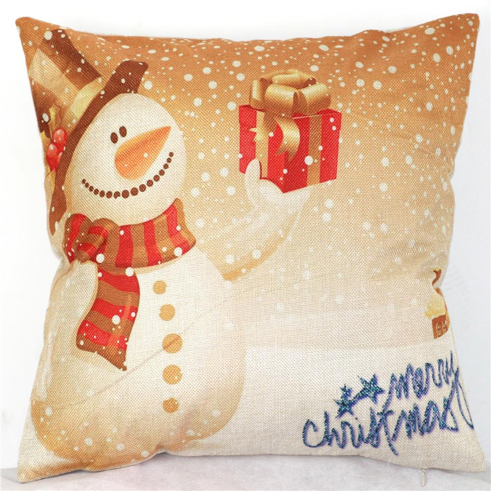 Warm Santa Claus Snowman Christmas Gift Customized Pillowcases (Two Sides)  Plush&Cozy Four Sizes:16x16,18x18,20x20,24x24inch