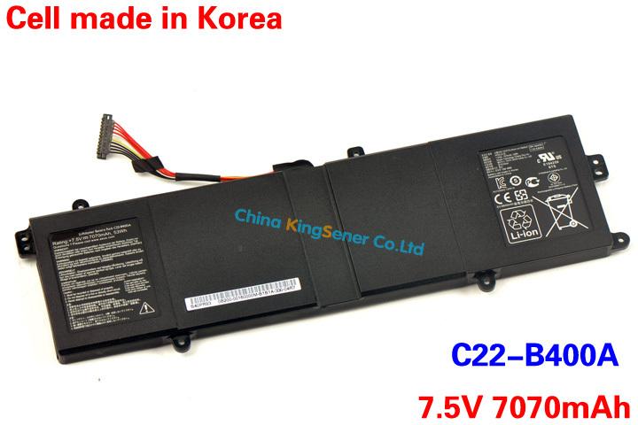 53WH Korea Cell Genuine New Laptop Battery C22-B400A For ASUS Pro Advanced BU400V BU400A Ultrabook C22-B400A 7.5V 7070mAh<br>