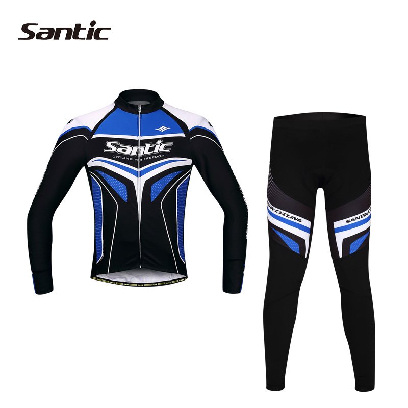 SANTIC Pro Racing Clothing Sets  Cycling Jersey Long Sleeve Bicycle Riding Pants 4D Pad Sportwear Ropa Ciclismo ,3 Colors<br><br>Aliexpress