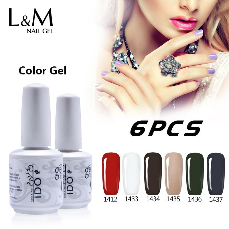 Three Free Nail Polish Brands List: Color Gel Nails Polish Set Brands 6 Pcs Free Shipping