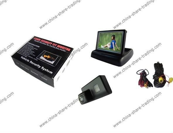 Free Shipping Rearview Camera for  PEUGEOT 206/207/407/307 Reverse Camera Kit 4.3 inch LCD TFT Foldable Rearview Monitor SS-645