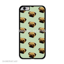 Cover for iphone 6 Cute Pug Puppy Cell Phone Cases For iPhone 6 6s 4.7′ Mobile phone Accessories hard plastic cell phone cases