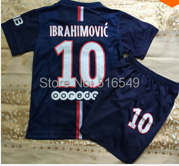top quality navy blue Soccer shirt for youth child,boys Soccer Jersey Uniforms football Jerseys(China (Mainland))
