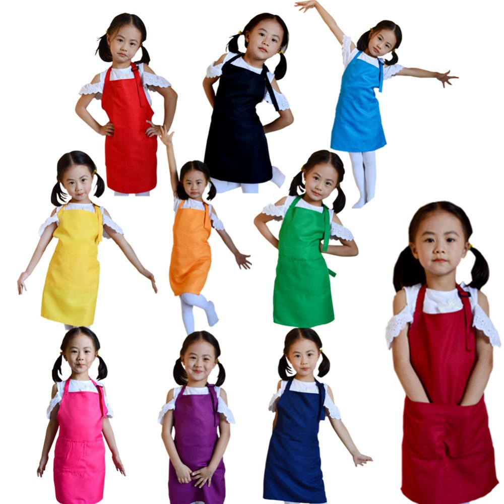 Multifunctional Baby Girl Boy Aprons Kitchen Lunch Garden Kid's Aprons Keep Cleaning Pinafore BS88(China (Mainland))