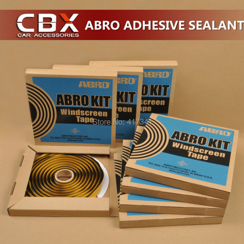 ABRO Kit Winscreen Tape Glue Butyl Snake Sealant Adhesive for Retrofitting Headlight Sealing Auto Glass(China (Mainland))