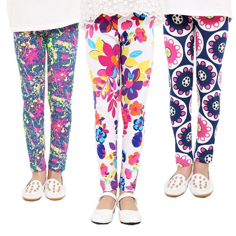 2017 Children's Clothing Girl Pants New Arrive Printing Flower Girls Leggings Toddler Classic Legging 2-14Y Baby Kids Leggings(China (Mainland))
