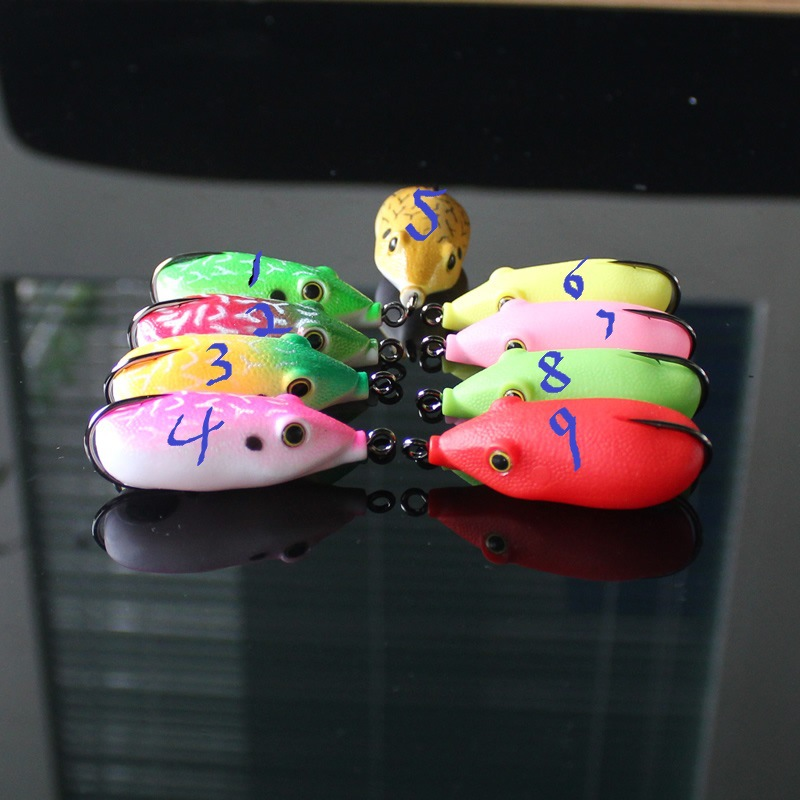 Free Shipping 4 pcs/lot Frog Fishing Lure Artificial Bait wobbler isca Minnow Pencil Fishing Tackle Locusts(China (Mainland))