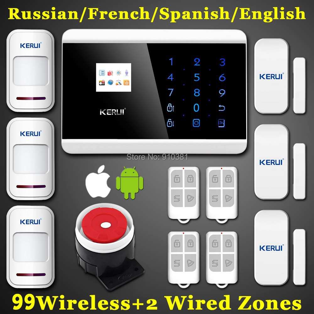 IOS Android APP LCD Smart Touch Keypad Wireless wired GSM PSTN Quad4 Band SMS Home Security Voice Burglar Alarm System Auto Dial(China (Mainland))