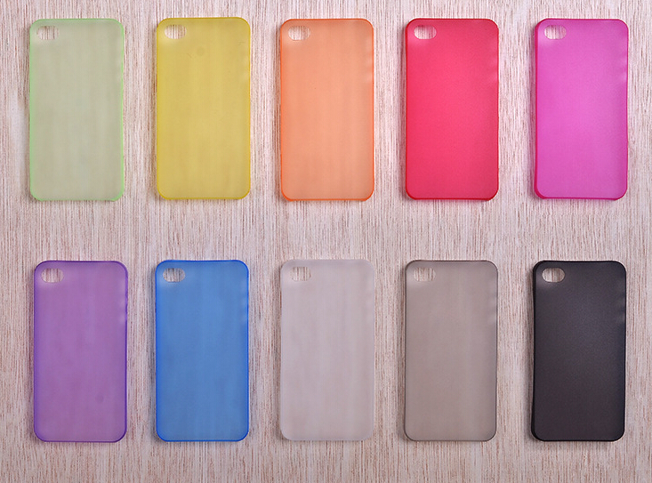 2015 new 1pcs 0.3mm ultrathin matte high clear soft case for iphone 4 4s back cover case high transparent phone case 10 colors(China (Mainland))