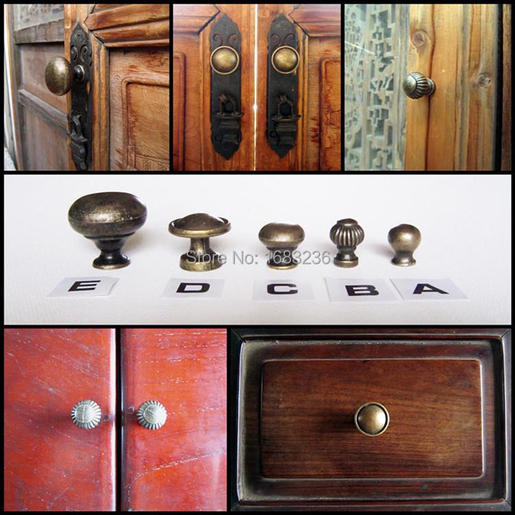 6pcs Antique Brass Jewelry Box Drawer Cabinet Cupboard Door Window Handle Pull Knob(China (Mainland))
