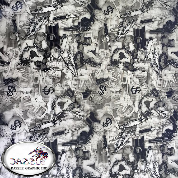 Free Shipping Size 0.5M*2M Dark Evil Pattern Water Transfer Printing Film No.DGDBZ1686 Hydro Dipping Film Hydrographic Film(China (Mainland))