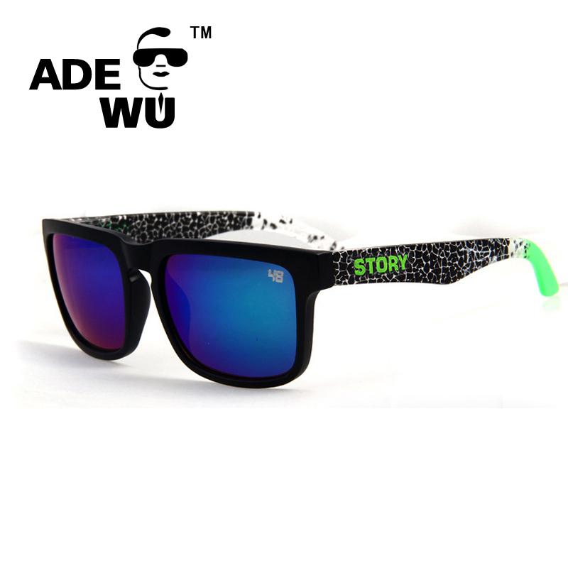ADEWU Sport Sunglasses Men Reflective Square Sun Glasses Women Brand Designer Ken Block oculos de sol masculino Original Case(China (Mainland))