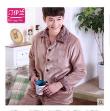 Pajamas men Winter tracksuit Coral velvet pajamas Cute tracksuit Pijama Men's suits pajamas(China (Mainland))