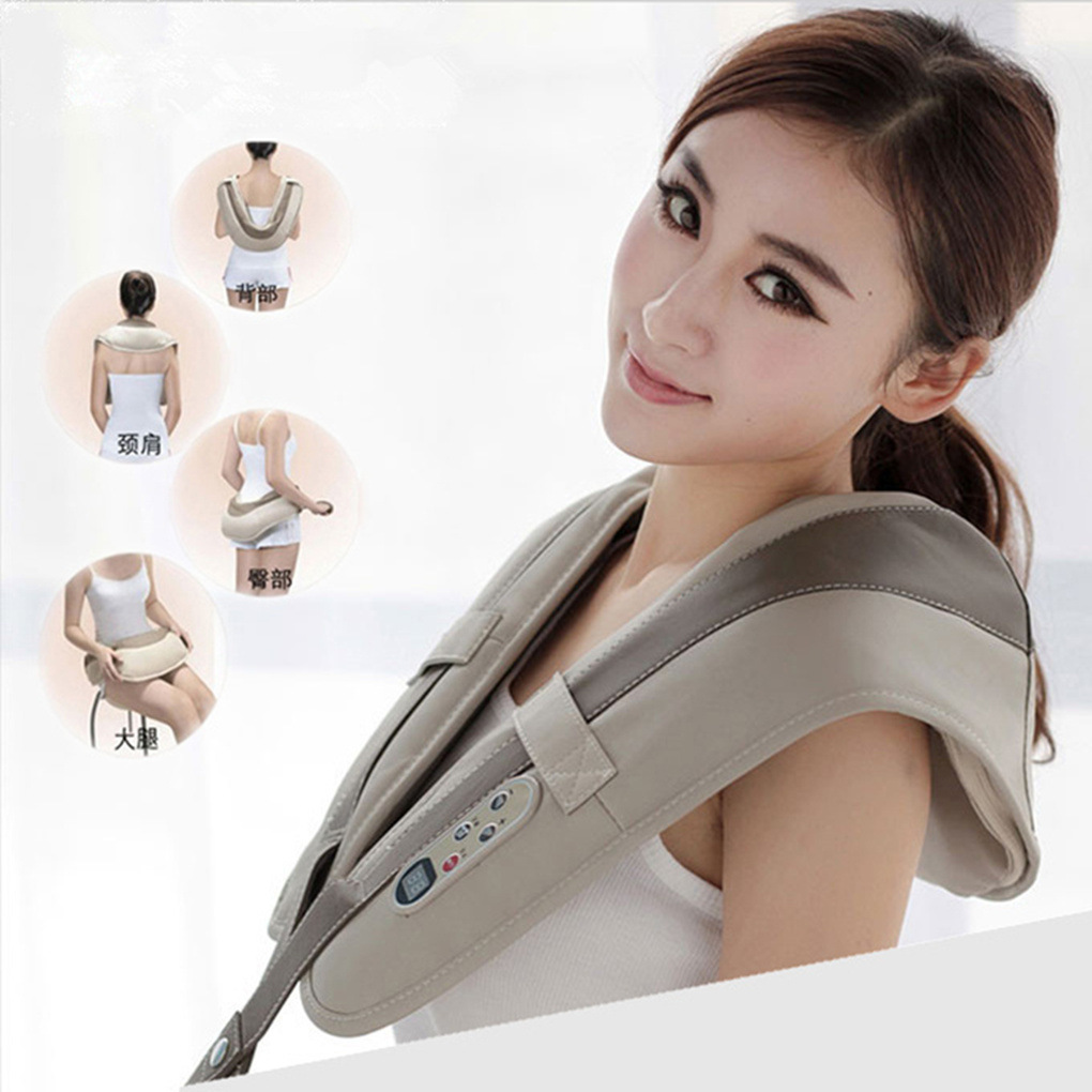 Electrical Shiatsu back massager 3D kneading vibration Shoulder Massager Frozen shoulder Pain Relief The best gift 220-240V(China (Mainland))