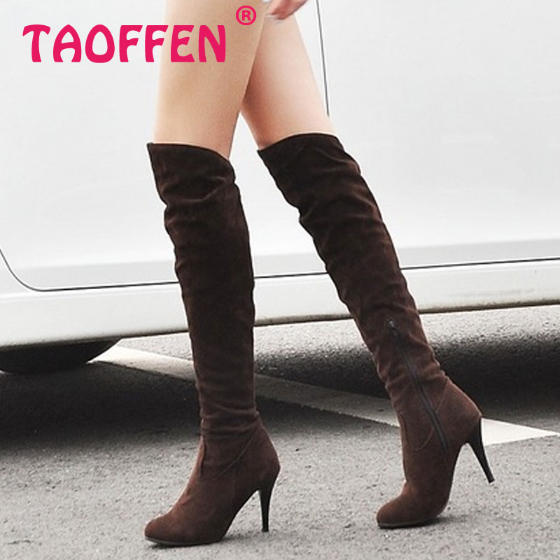 2012 NEW  fashion high heel knee casual dress sexy women P1318 Hot sell size 34-47 boots<br><br>Aliexpress