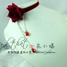 Wine red chain female vintage pearl rose flower bride chain collapsibility boxthorn  for lolita princess dress jewelry(China (Mainland))