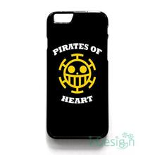Fit for iPhone 4 4s 5 5s 5c se 6 6s 7 plus ipod touch 4/5/6 back skins cellphone case cover HEART PIRATES TRAFALGAR LAW LOGO
