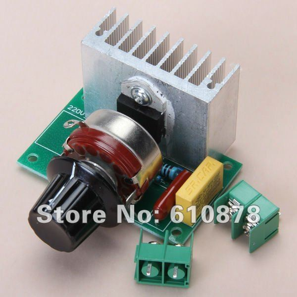 Free Ship,3800W 220V Voltage Regulator for Dimming Light Lamps ,Speed ,Voltage Temperaute control(China (Mainland))