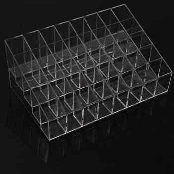 40 Trapezoid Clear Makeup Display Lipstick Stand Case Cosmetic Organizer Holder Hot sale High Quality BZ678406
