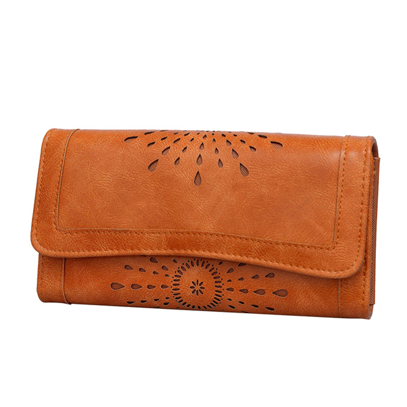 Fashion Vintage Women Ladies Oil Purse medium-long Slim Zipper Wallets Dollar Price Leather Purse female Pouch Bolsas Carteira(China (Mainland))